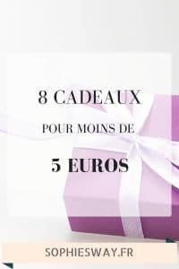 8 cadeaux pour moins de 5euros