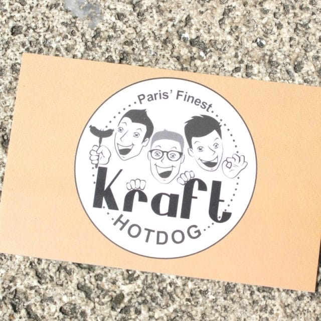 Kraft Hot Dog à Paris graphic
